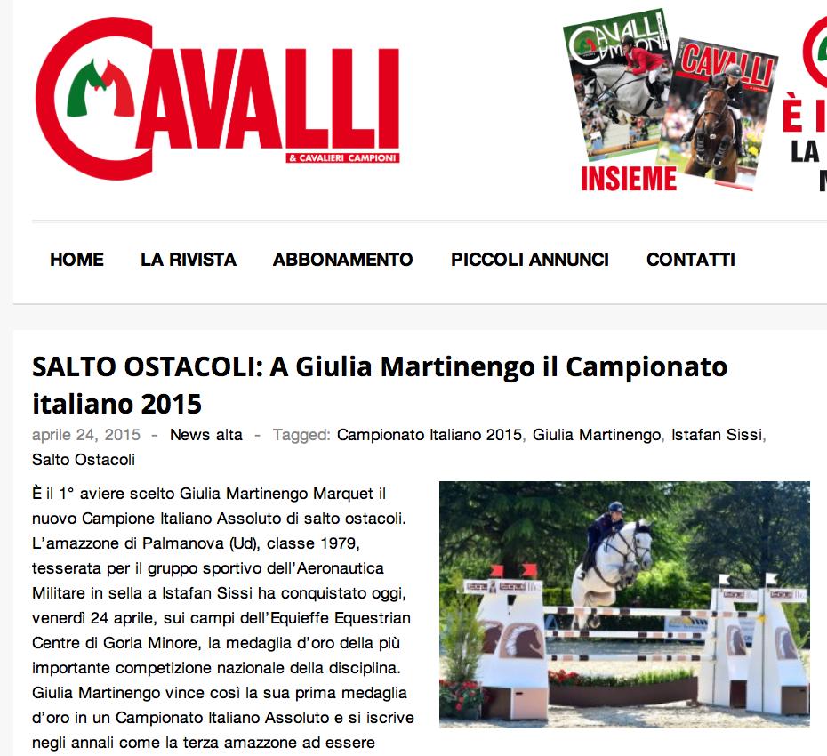 SALTO_OSTACOLI__A_Giulia_Martinengo_il_Campionato_italiano_2015___Cavalli___Cavalieri_Campioni