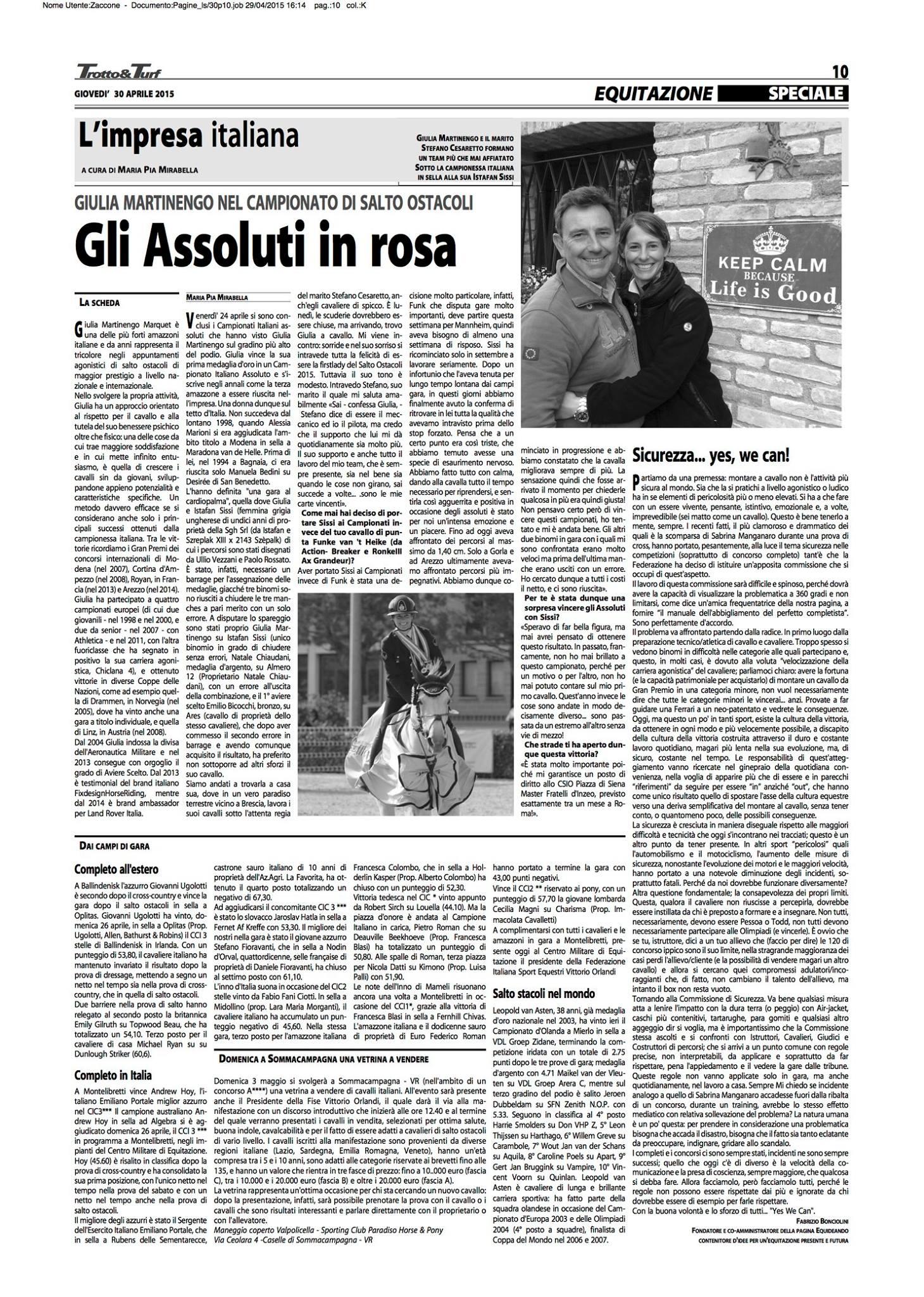 giulia martinengo_trotto&turf_campione d'italia