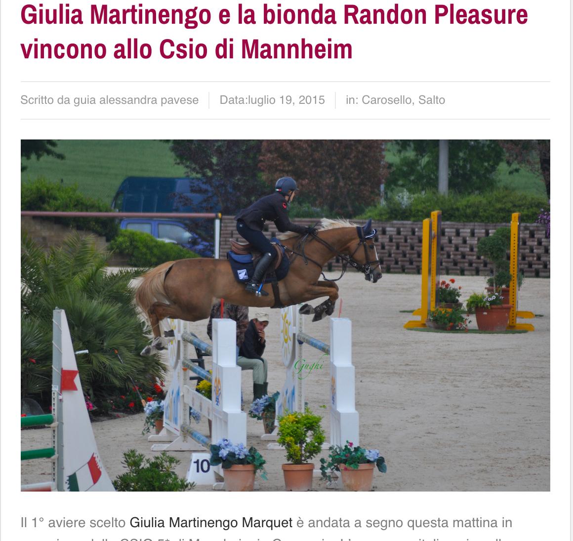 giulia martinengo_randon pleasure_mannheim_dothorse
