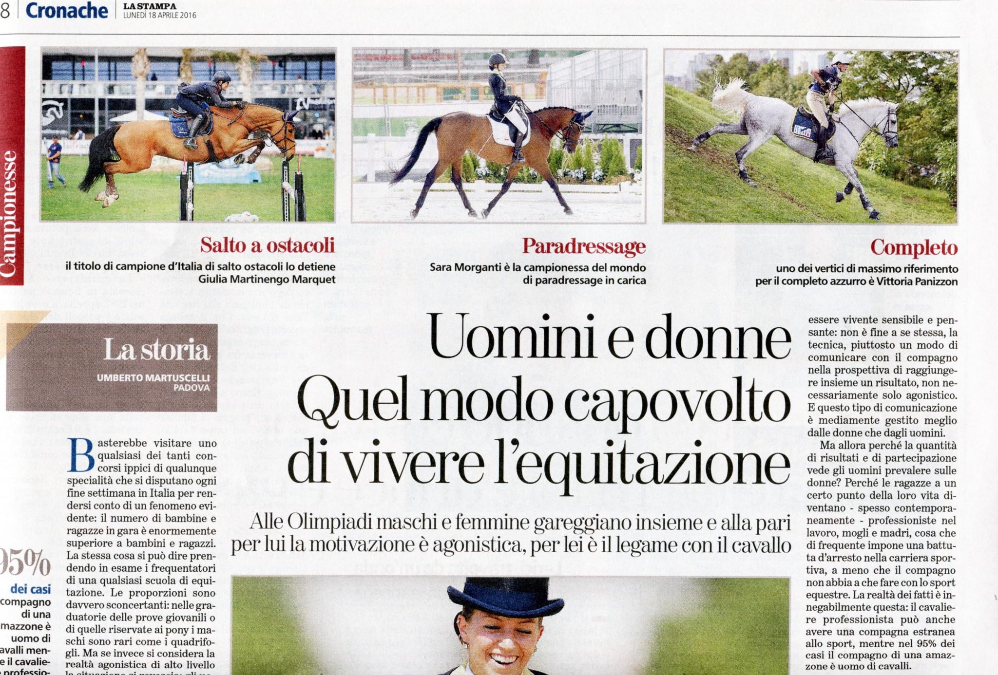 2016.04.18_La Stampa_GIULIA E VITTORIA